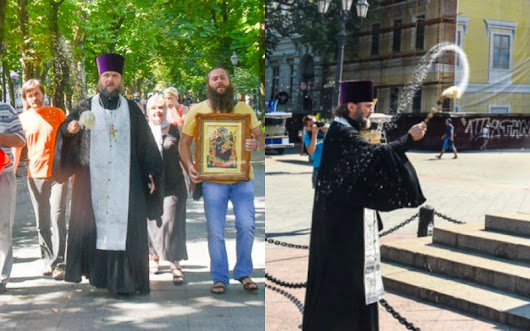 Orthodox Priest Cleanses His City's Downtown with Holy Water After LGBT Parade (Pictures Inside) | ChurchPOP