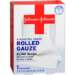 Band Aid Rolled Gauze, Small, Kling Design, 2 Inches