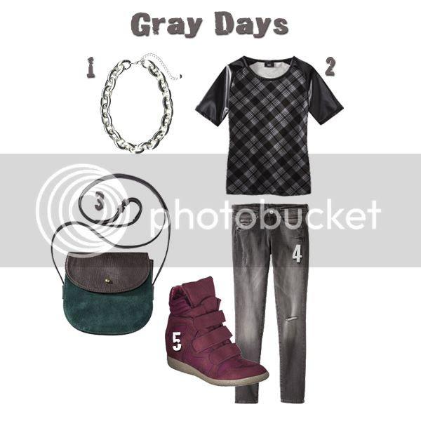 Mossimo Gray skinny jeans, Xhilaration Kahsha wedge sneakers, Merona olive crossbody bag, Target outfit ideas, Target Style