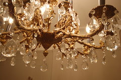 Close up of chandelier details