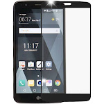MYBAT for LG Stylo 3 Plus Ls777 Full Coverage Tempered Glass Screen Protector/Black