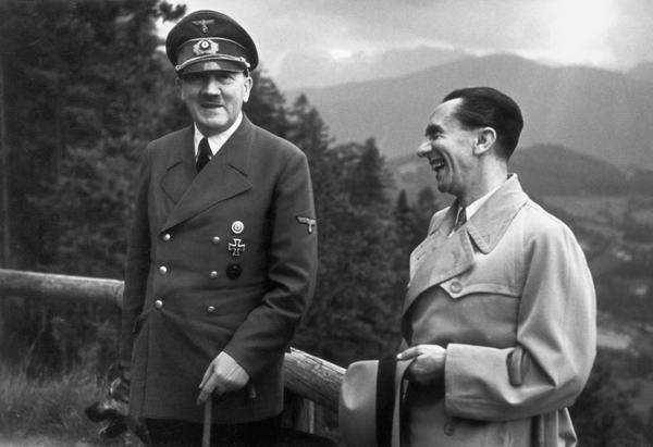 Гитлер и Геббельс