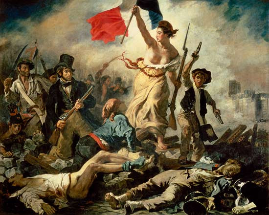 Artprint of  La liberté guidant le peuple