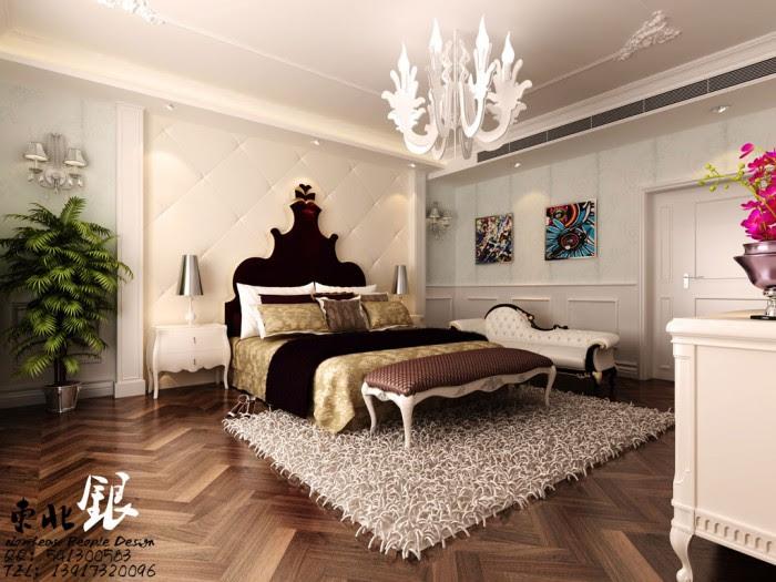 bedroom wood paneling