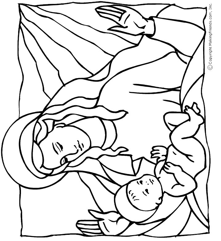 Birth Of Jesus Coloring Page   Free download on ClipArtMag