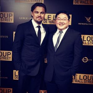 Jho Low and Leonardo Dicaprio at the premier of The Wolf of Wall Street