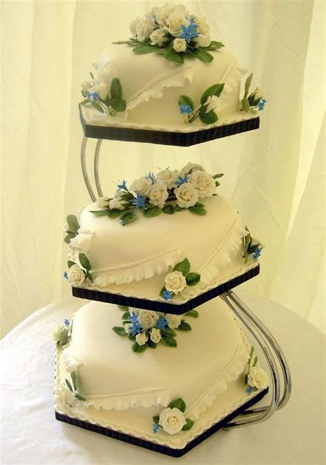 Ivory cakes   This three tier Hexagonal fruit cake was