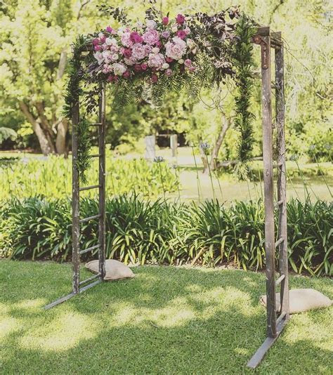 HIRE ONLY   Recycled Timber Ladder Wedding Arch. NSW Hire