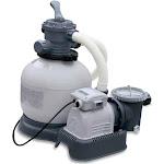 "Intex Krystal 2800 GPH Above Ground Pool Sand Filter Pump, Gray, 14"""