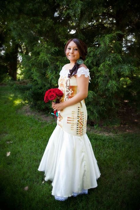 Irene Begay designed Native American Wedding dress