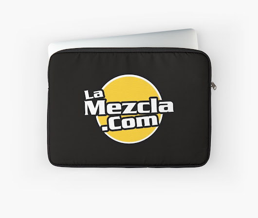 'LaMezcla.com (official logo)' Laptop Sleeve by djricosanchez