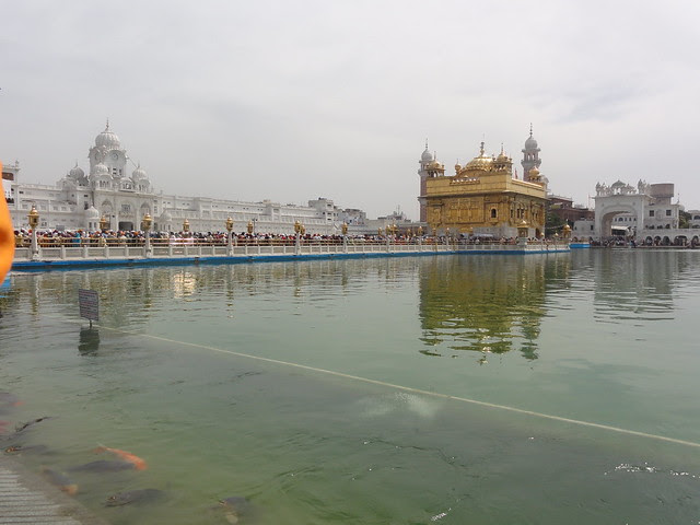 Harmandir Sahib with Langar area in the background