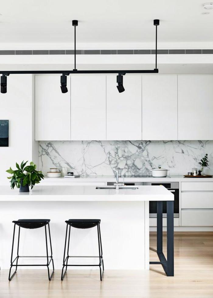 Lampe Für Kücheninsel | Küchentheke Ideen - Kitchen -weiße ...