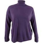 Karen Scott Women's Plus Size Turtleneck Luxsoft Sweater (0X, Purple Dynasty)