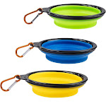 Collapsible Dog Bowl - 3-Pack Silicone Foldable Pet Bowel, Portable Dog Bowl Dish, For Travel, Outdoor, Camping, For Cat, Dog, Pets Water Food Feeding