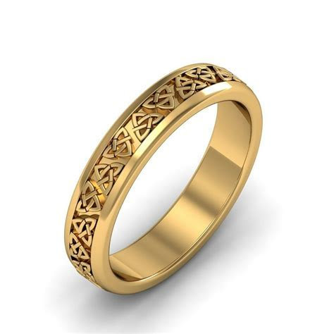 Ladies 14k Gold Irish Handcrafted Celtic Trinity knot