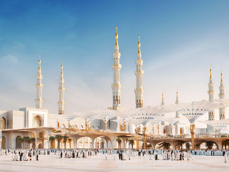 Architectural Rendering Architectural Visualisation Mosque In Medina Saudi Arabia