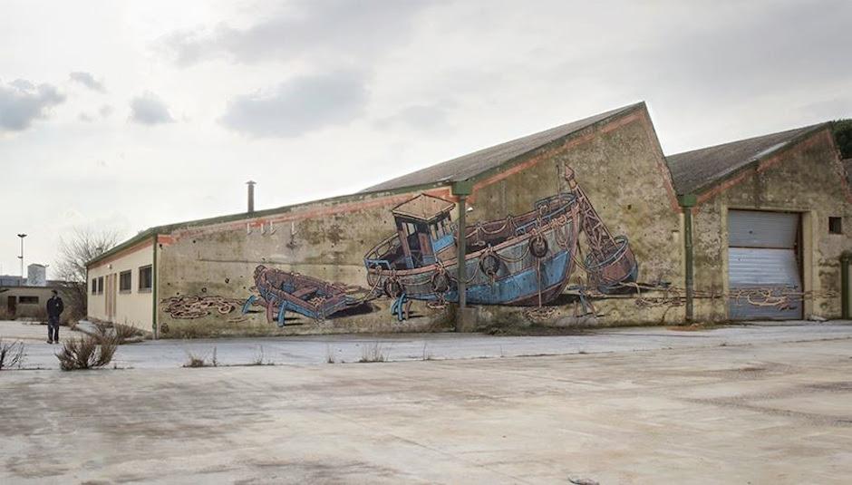 Street Art by Aryz in Catalunya