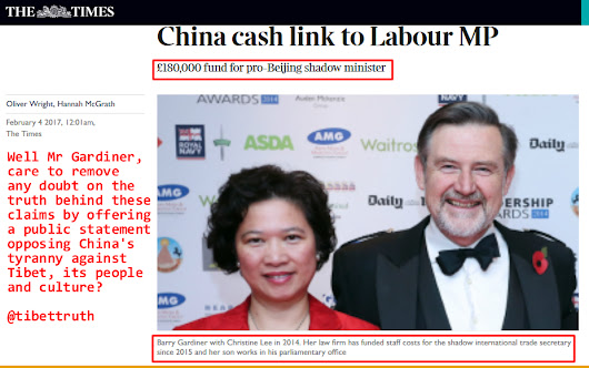 Claim That UK Labour MP's Office Funded By China