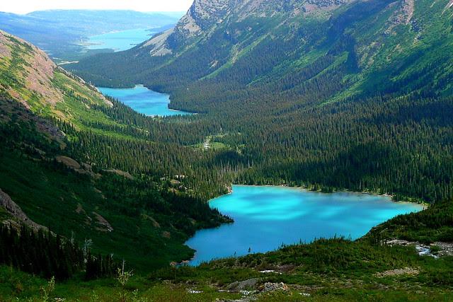 P1170077 Grinnell Lake, Lake Josephine and Lake Sherburne, Glacier National Park