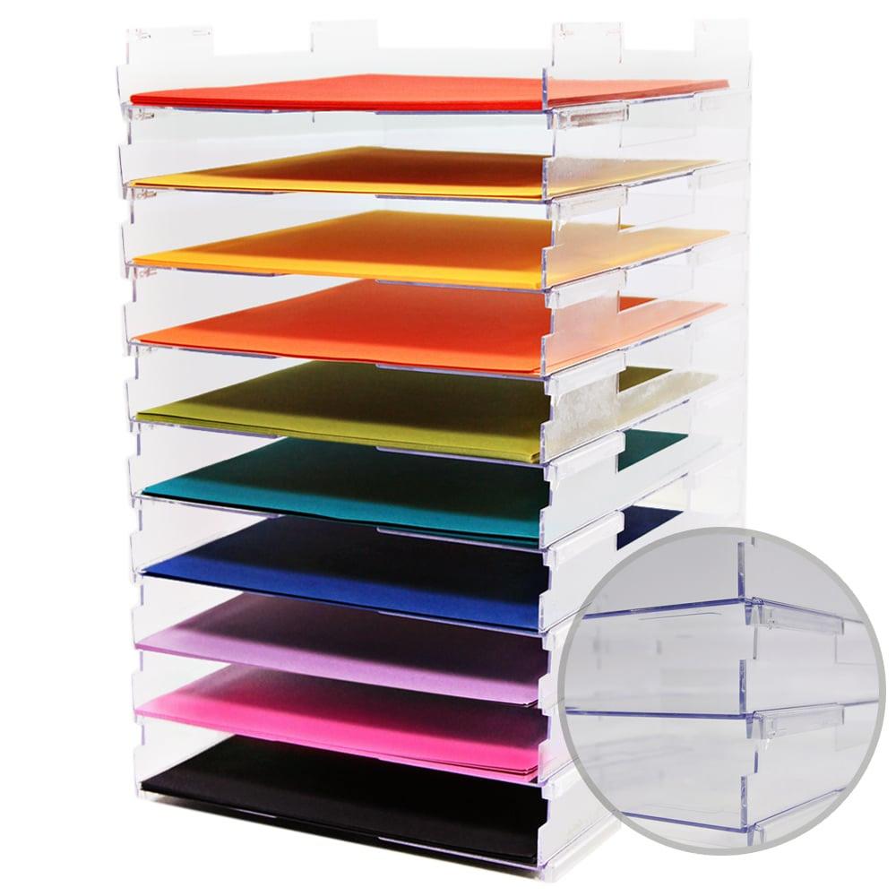 Umbrella Crafts - 12 x 12 Stackable Paper Trays - No Lip - 10 Pack