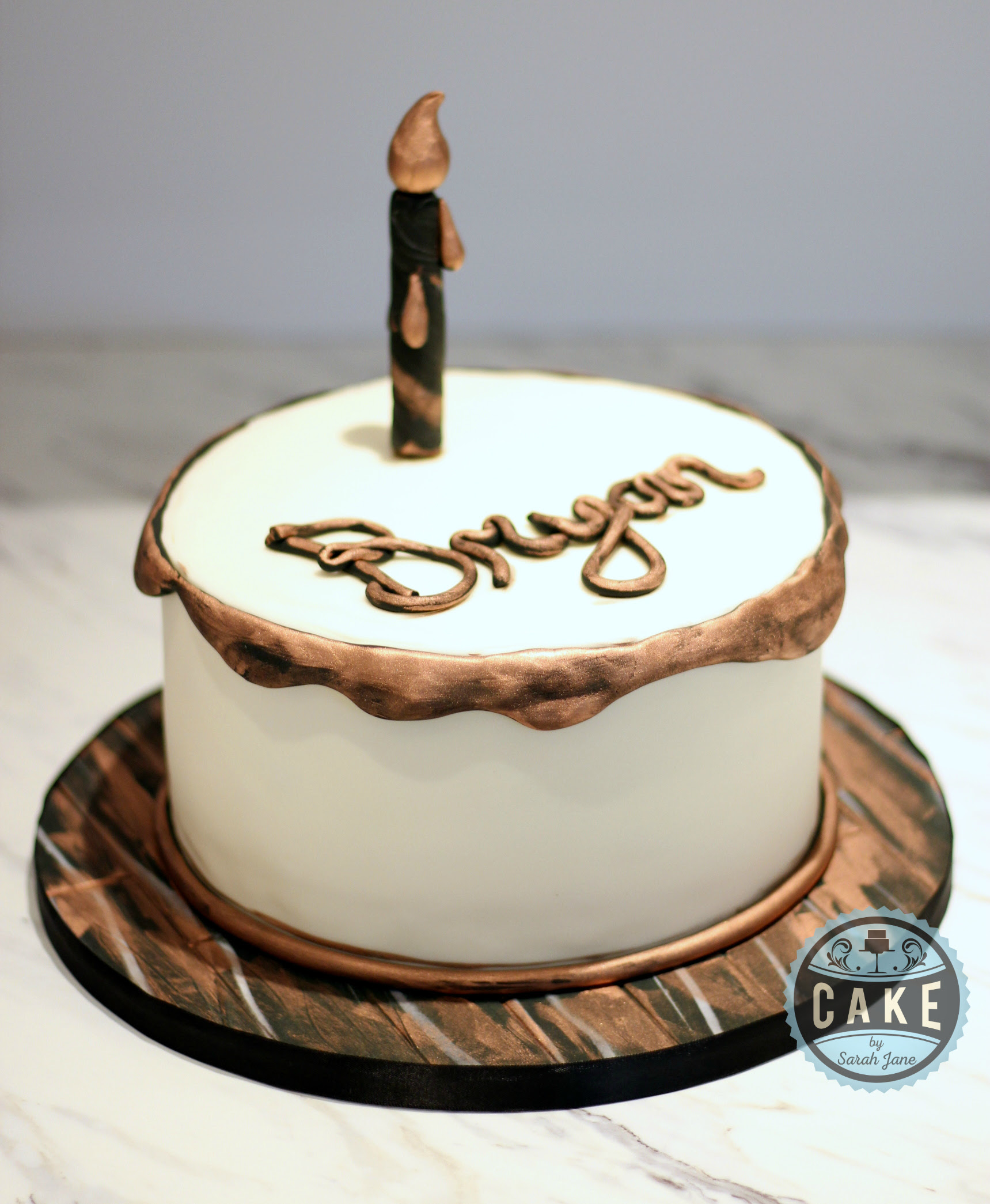Happy Birthday Bryan Cake By Sarah Jane