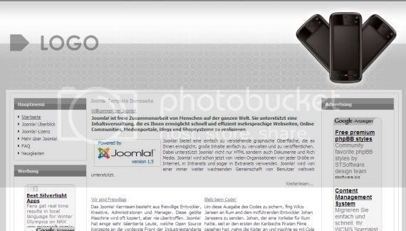 Iphone Mobiles Gray Website Joomla Template