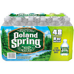 Poland Spring Water, Natural Spring, 48 Pack - 48 pack, 8 fl oz bottles