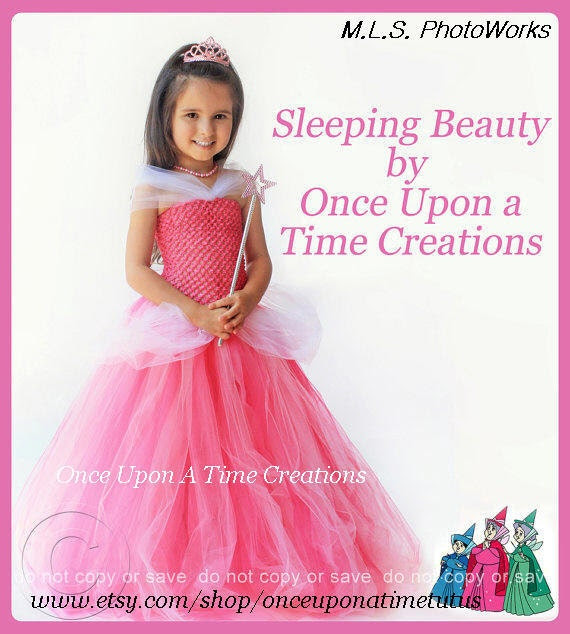 Aurora Inspired Princess Tutu Dress - Birthday Outfit, Photo Prop, Halloween Costume - 12M 2T 3T 4T 5T - Disney Sleeping Beauty Inspired
