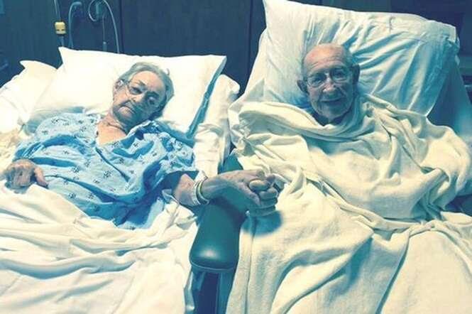 Hospital quebra regra e coloca pacientes idosos, casados há 68 anos, juntos no mesmo quarto