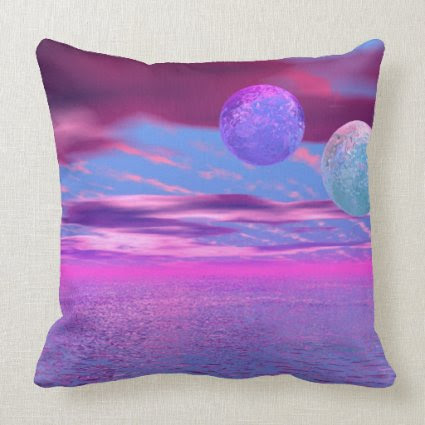 Love Birds - Abstract Pink and Purple Passion Throw Pillow