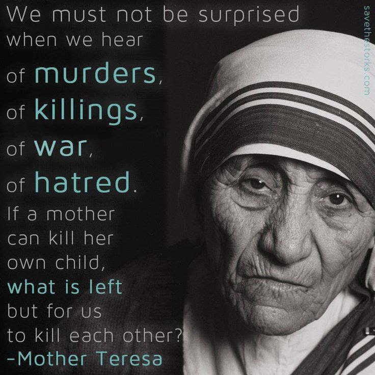 Mother Teresa Pro Life Quotes. QuotesGram