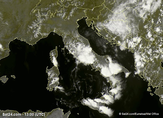 Weather Italy, Satellite Weather Italy, Weather Forecast, Rainfall, Clouds, Sun in Italy - SAT24.com