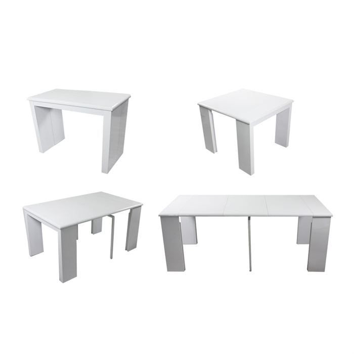 meuble cuisine table table blanche laquee extensible. Black Bedroom Furniture Sets. Home Design Ideas