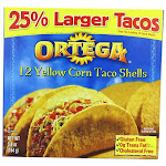 12 Packs : Ortega Yellow Corn Taco Shells