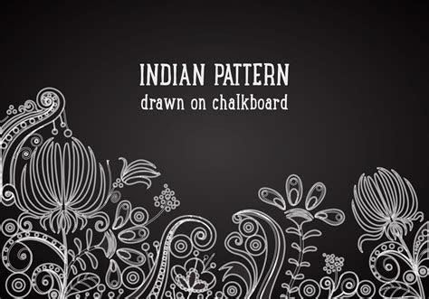 Indian Pattern On Blackboard Vector Background   Download