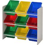 Muscle Rack Kids Storage Organizer with 9 Bins, White
