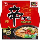 Nongshim Shin Bowl Noodle Soup, Gourmet Spicy - 3.03 oz bowl