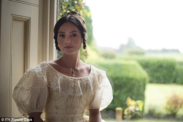 Triumph! The outing comes as The Hollywood Reporter reported the drama, from PBS and Britain's ITV Studios has sold to more than 150 countries following its success (Jenna as Victoria)
