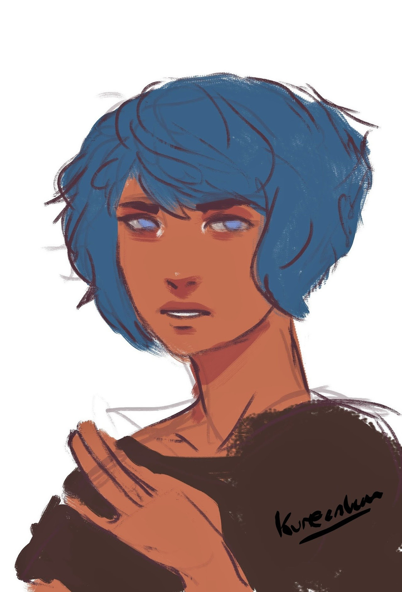 Out of all honesty, had a stupidly long break from art which was bad. But here have a lapis sketch from like awhile ago.