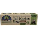 If You Care 97 Post Consumer Recycled Tall Kitchen Bags with Drawstrings 12 Bags