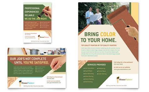 Painter & Painting Contractor Flyer & Ad Template   Word