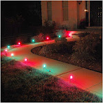 LumaBase Electric Pathway Light, Red/Green - 10 count
