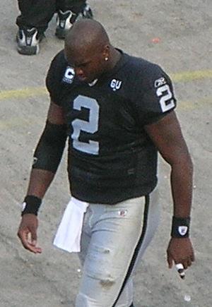 Oakland Raiders quarterback JaMarcus Russell o...