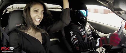 Corvette Z06 drifting with Miss France at the Las Vegas Motor Speedway with Exotics Racing