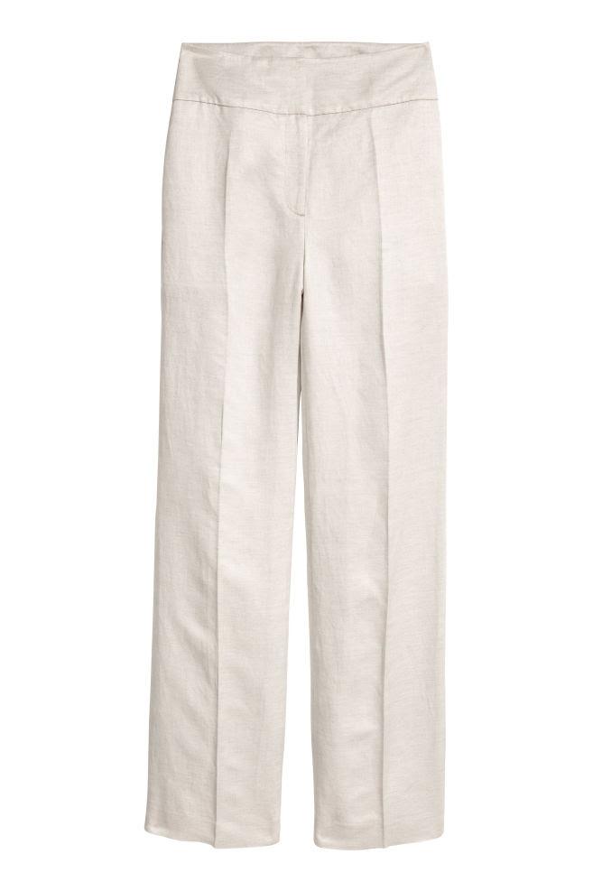 リネンブレンド スーツパンツ - ライトグレー - Ladies | H&M JP 1
