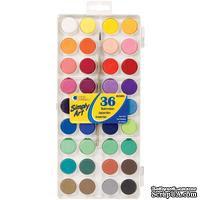 Набор акварельных красок Simply Art Watercolor Paint Cakes, 36 цветов - ScrapUA.com
