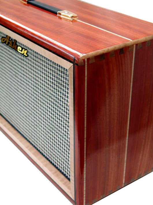Ashen 212 Custom Boutique Handmade Guitar Cabinet Enclosure (empty) Natural Satin Padauk