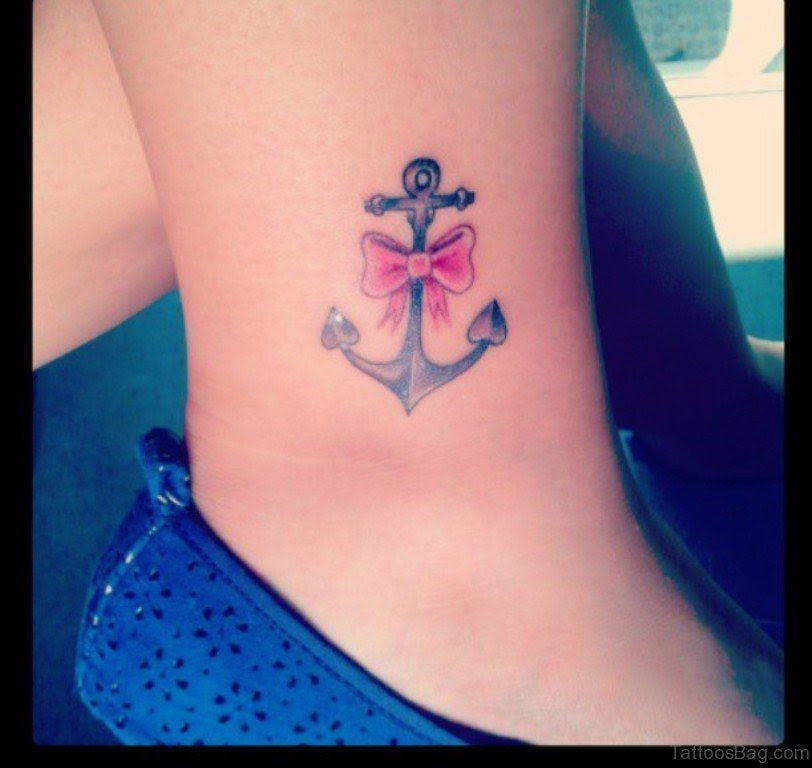 51 Glorious Bow Tattoos On Ankle