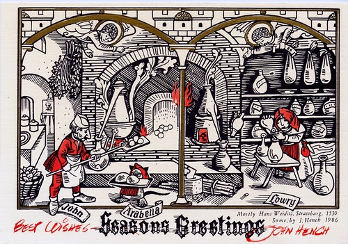 John Hench Christmas Card 1986